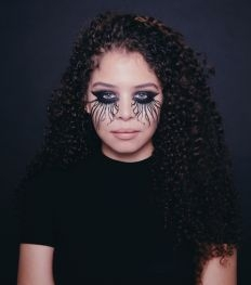 Halloween make-up tutorial: Spider eyes