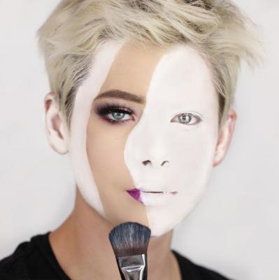 mannen, beauty, make-up