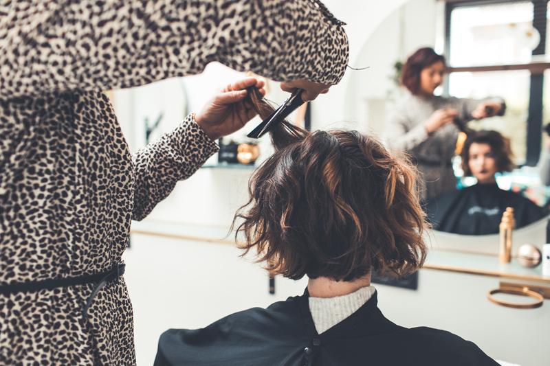dry hair cut