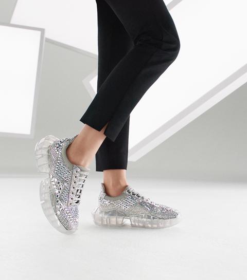 ZIEN: de Diamond sneaker van Jimmy Choo met 4546 Swarovski kristallen