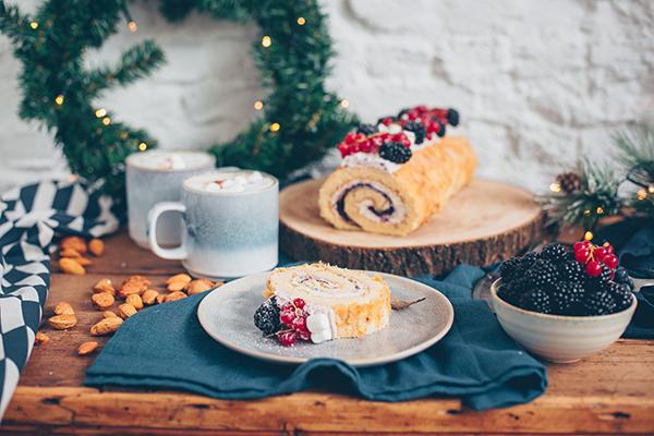 kerstmis, recept, dessert, taart, swiss rol, julies house
