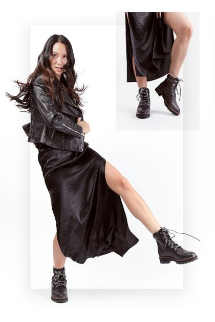 timberland stoer boots sexy party black jurk dress