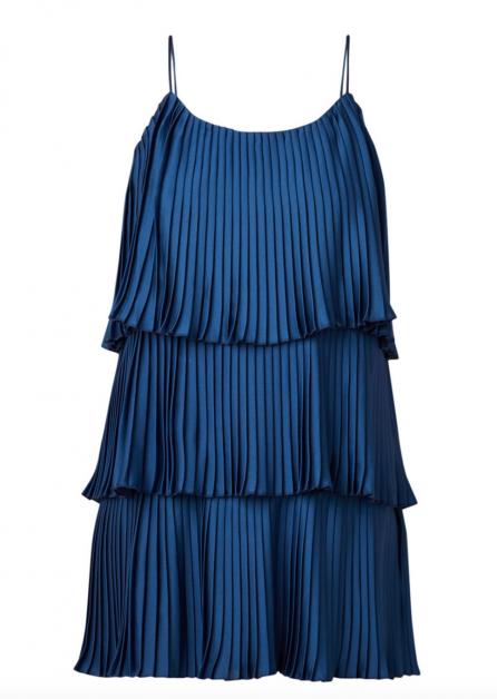 jurk mango classic blue trendkleur