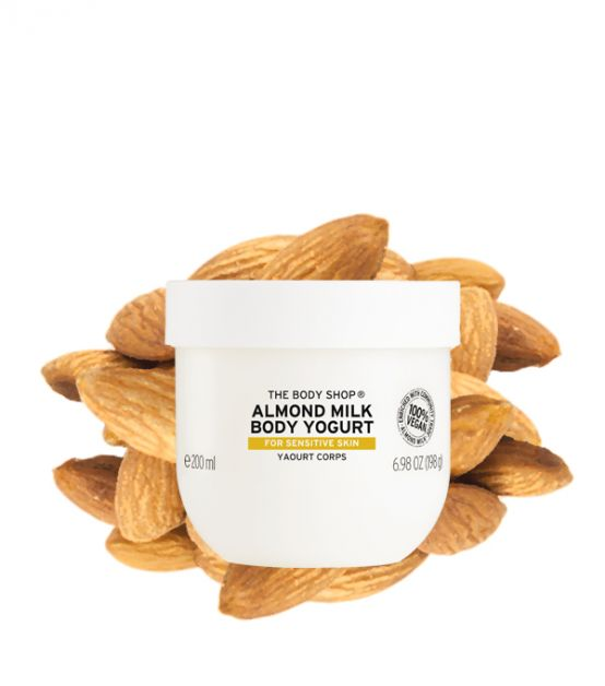 almond milk body yogurt the body shop