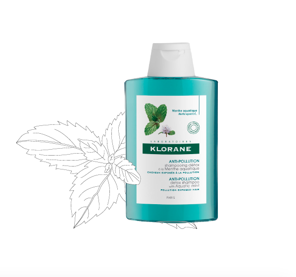 Anti-pollution detox shampoo with aquatic mint Klorane