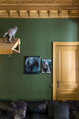 woonkamer groen