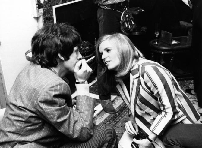 Paul Mccartney en zijn vrouw Linda McCartney.