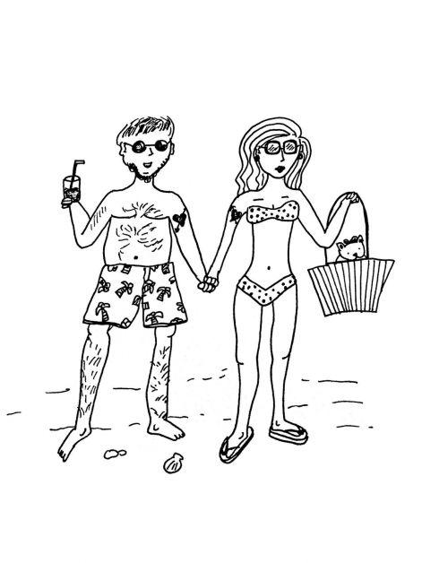 strand, vakantie, koppel, romance, liefde