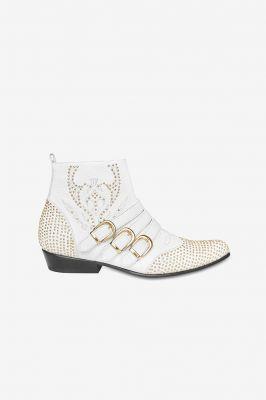 witte laarzen, trend, zomer, lente, 2019, western, boots