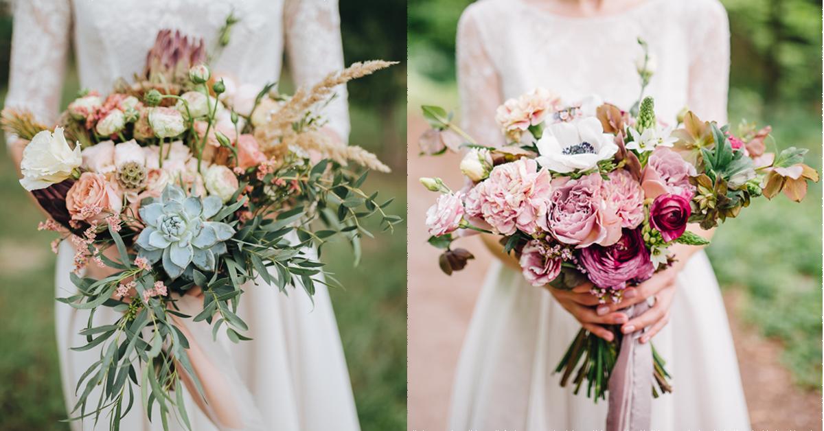 bruidsboeket bloemen veldbloemen