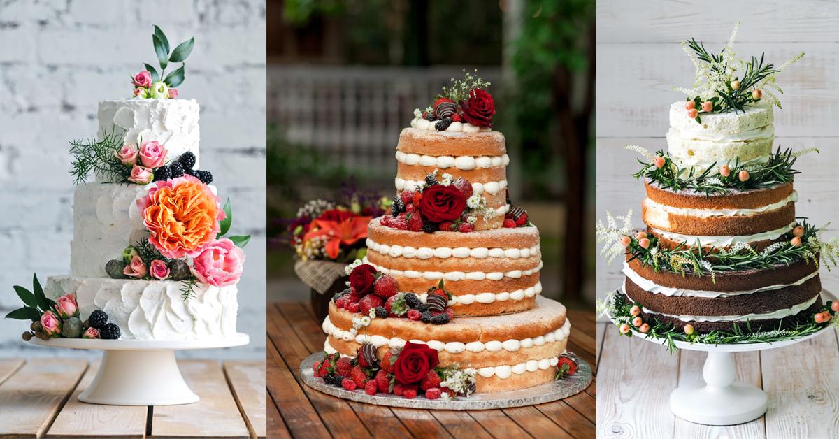 zomerse bruiloft 2019 wedding taart