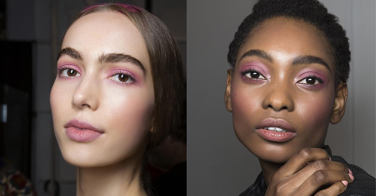 roze kleur oogschaduw