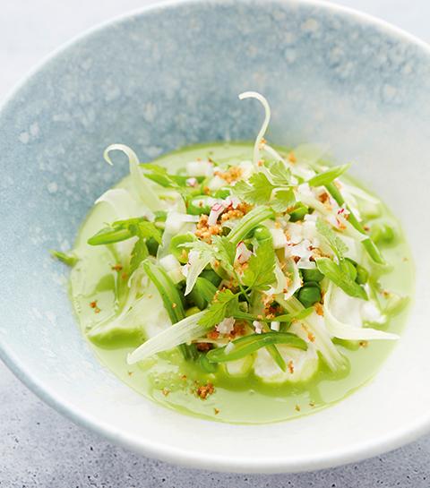 Salade van peulvruchten met griekse yoghurt door Michaël Vrijmoed