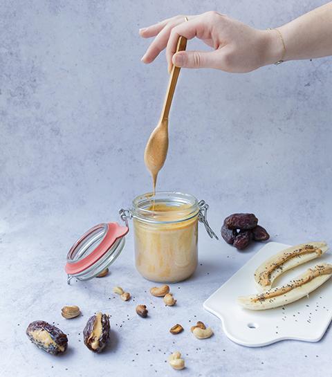 Homemade cashewpasta met vanille
