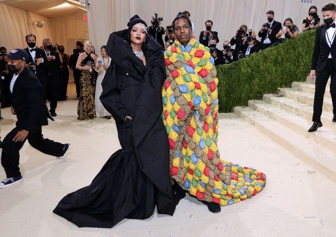 Rihanna en ASAP ROCKY met gala
