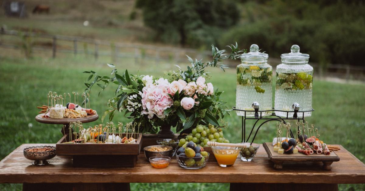 eco limonade trouwfeest buiten
