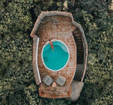 Hotel, Papaya Playa Project, Jungle Casita, Oceanview pool, Jungle