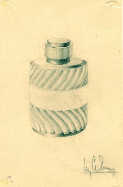 vintage tekening dior parfum