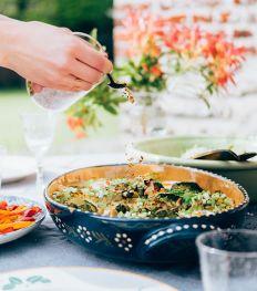 Onze 100% healthy groene shakshuka