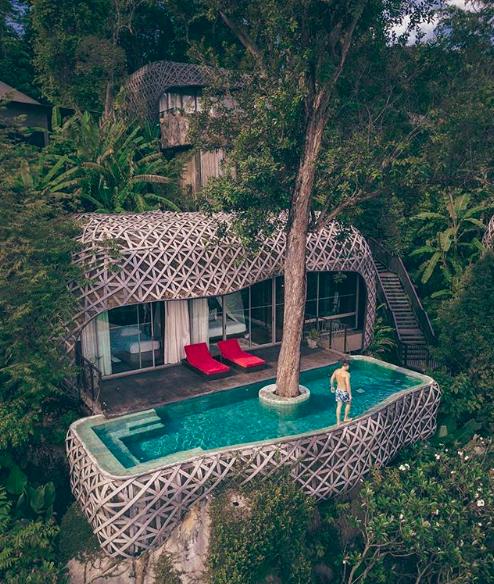 Boomhut-Hotels, Keemala, Thailand