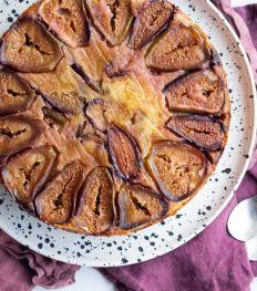 Zachte taart met verse vijgen