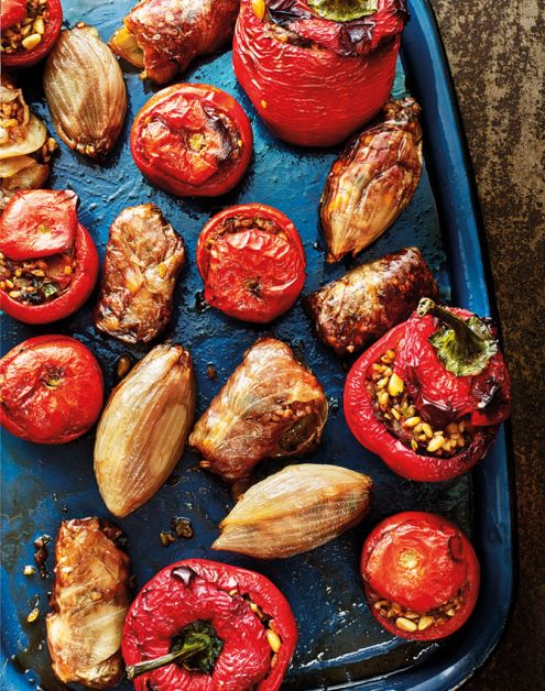 groentedolma's oosterse gerechten