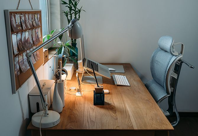 kantoor bureau inrichten thuis decoratie