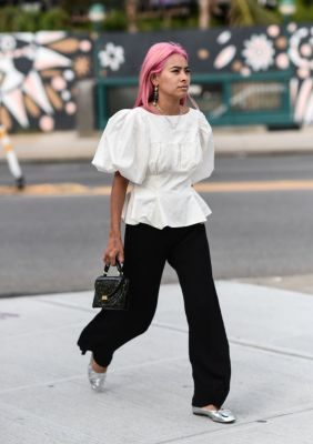 roze haar trend streetstyle fashion week