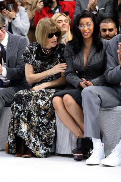 Anna Wintour Cardi B Paris Fashion Week