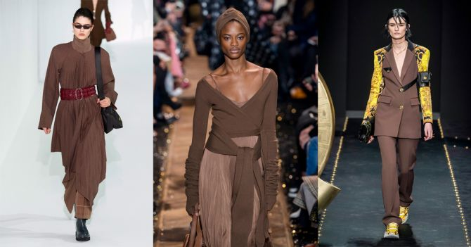 bruine kleuren herfst trends catwalk