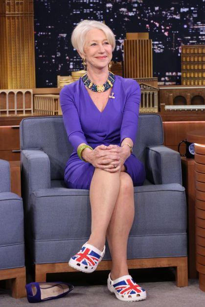 Helen Mirren crocs