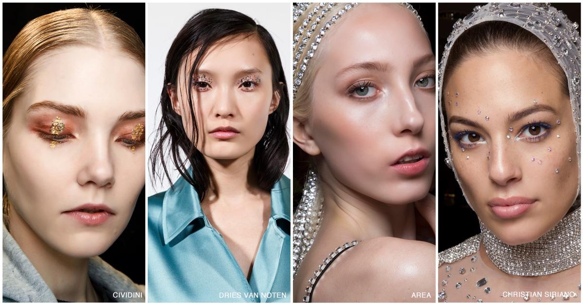 make-up trends glitter bling 2019 2020