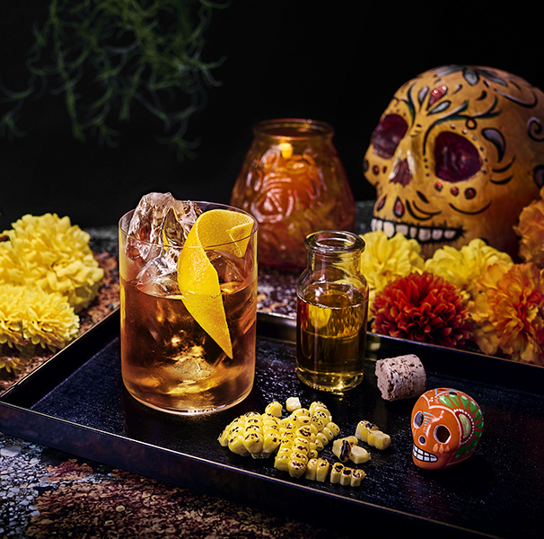 dia de los muertos, cocktail, tequila, old fashioned, recept