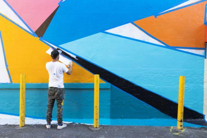 Los Angeles, Fashion District, graffiti, street artist