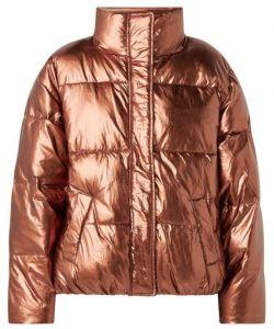 scotch & soda mantel gewatteerde puffer jacket metalic
