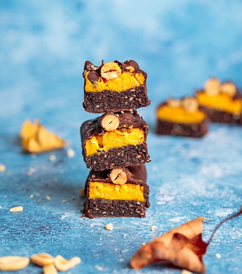Gezonde snack: vegan snickers met pompoen