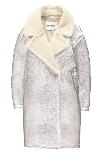 zilveren jas metallic