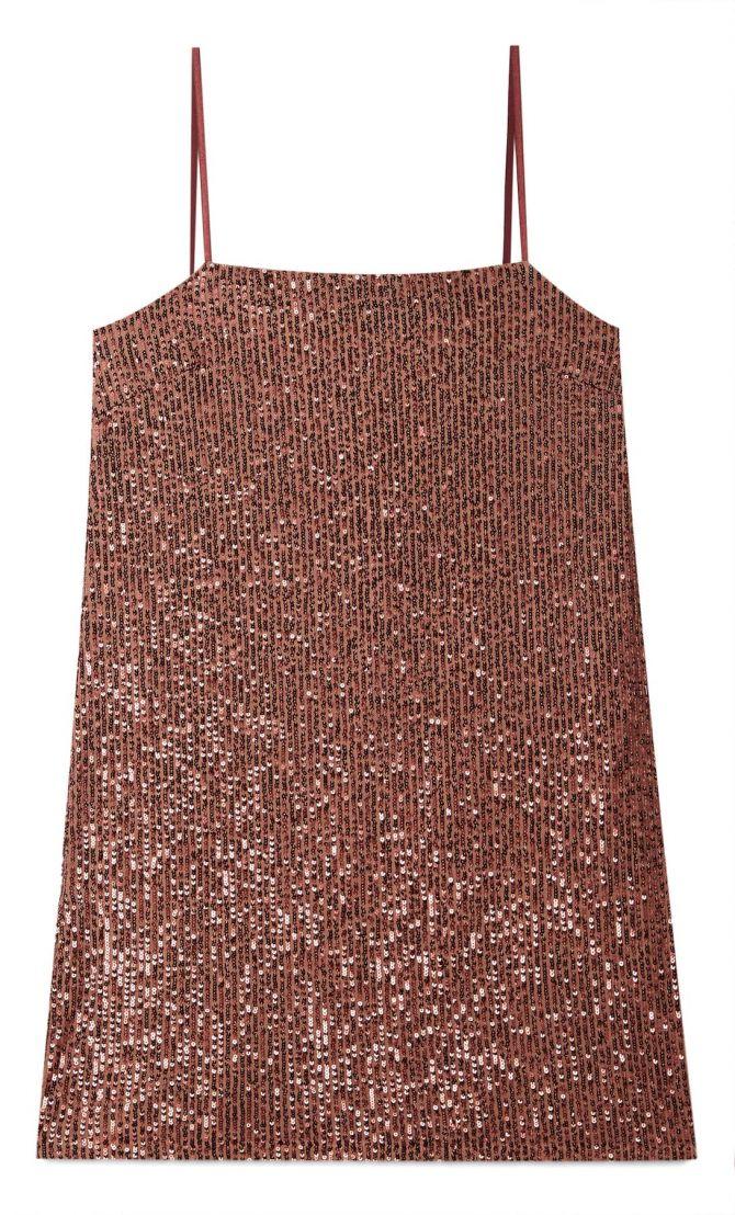 stradivarius korte jurk pailletten