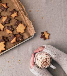 Recept: zandkoekjes met hazelnoot, citroen en melkchocolade