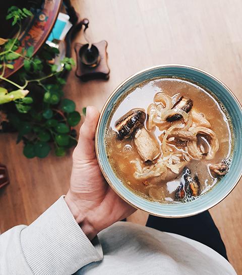Makkelijke misosoep met champignons