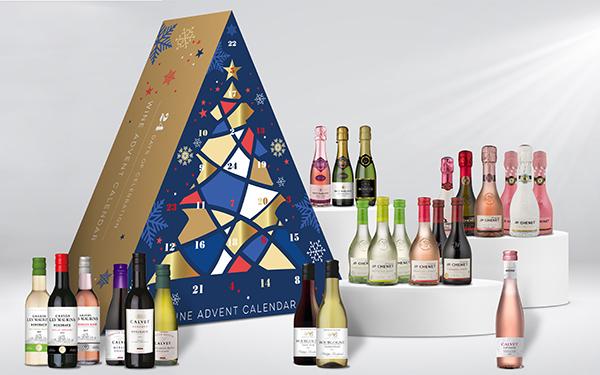 adventskalender wijn cadeau kerst
