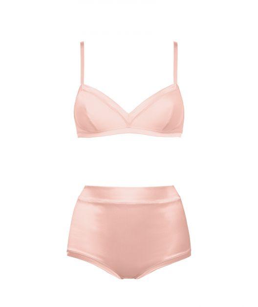 eres lingerie feest kerst sexy roze setje