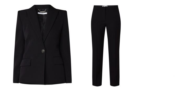 kostuum zwart solden duurzaam shoppen