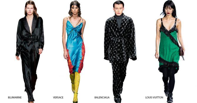 catwalk lingerie pyjamalook