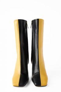zara boots tweekleurig two-tone
