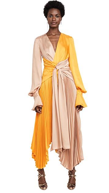 tweekleurige jurk