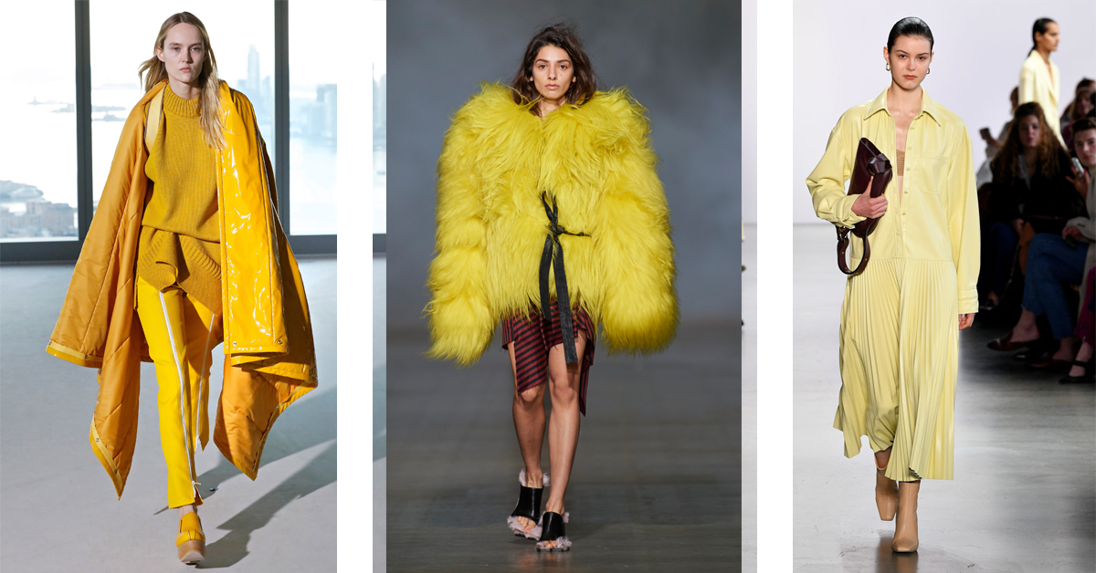 geel trend fashion weeks trendkleur 2020