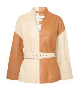 two-tone jas tweekleurige blouse gestuz