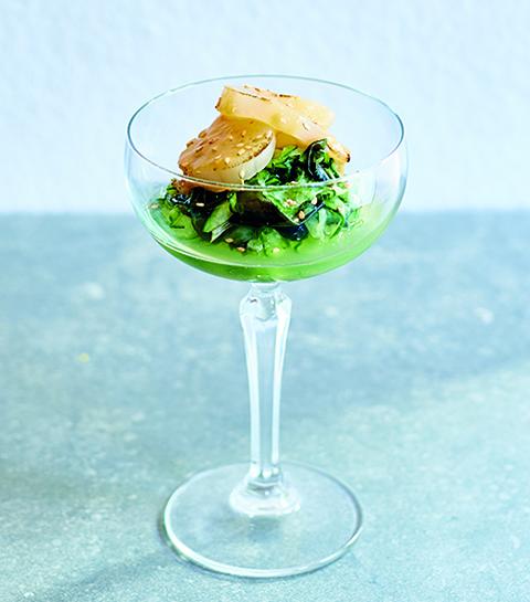 Recept: coquilles met zeewiersalade