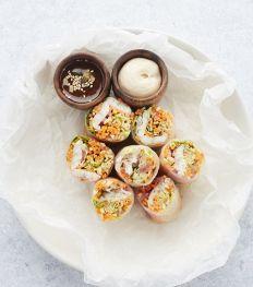 Recept: Springrolls met gerookte paling, miso en soja